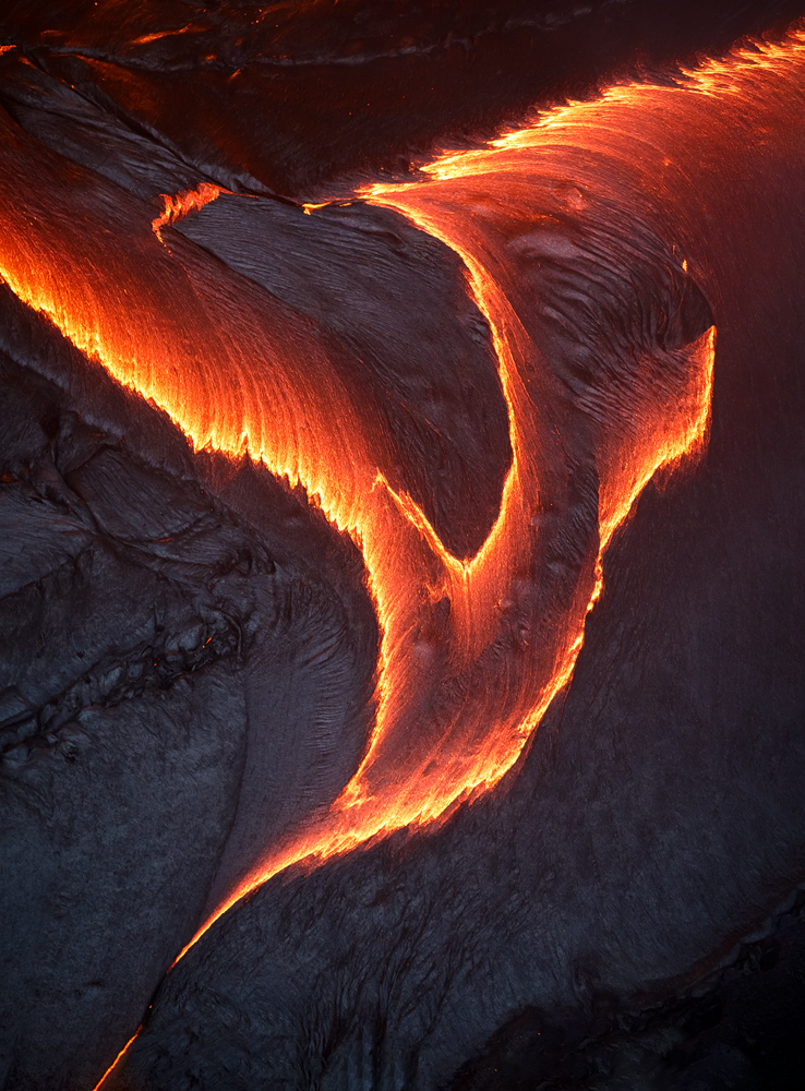 A lava 'bird' in Puʻu ʻŌʻō Crater