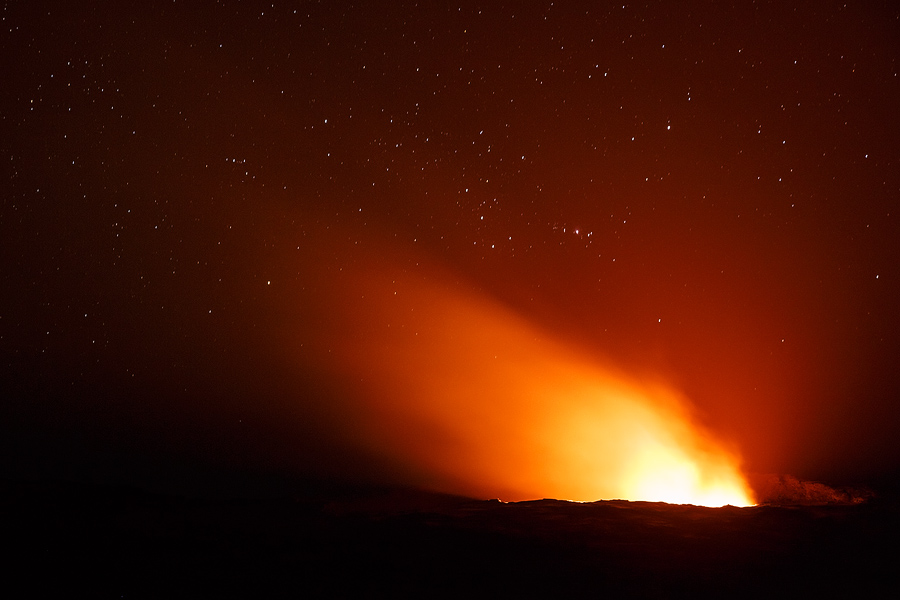 Erta Ale volcano crater as seen from the campsite. Canon 5D Mark III, Tamron 24-70mm F2.8 VC