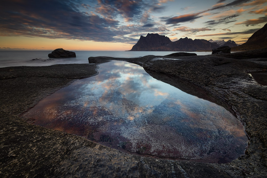 Reine has tons of still pools to shoot reflections in