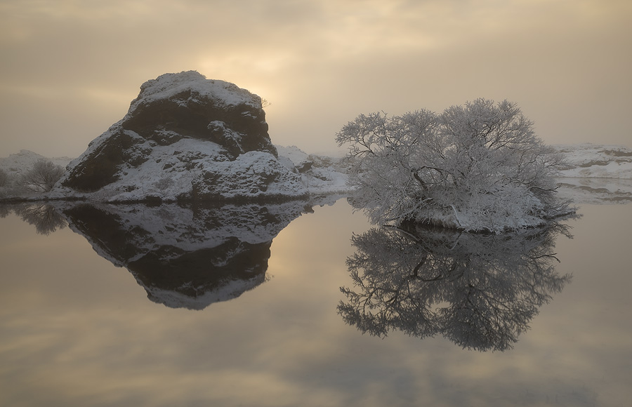 Lake Mývatn is a true winter wonderland!
