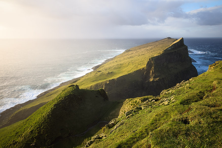 Due to its exposed situation, Mykines experiences rapidly changing weather and amazing light
