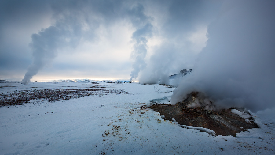 The Mývatn geothermal vents