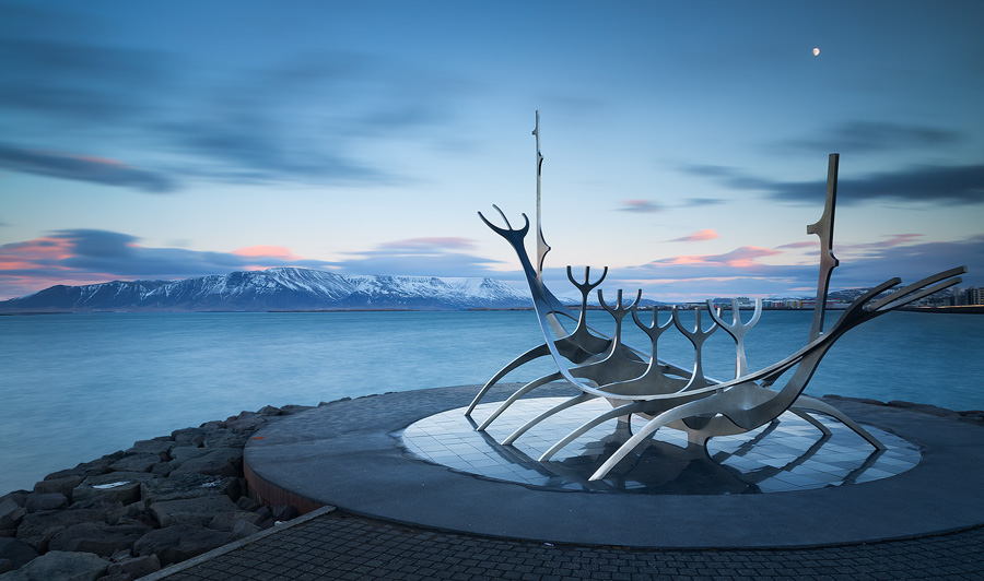 Late afternoon in Reykjavik