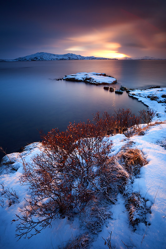 A wonderful sunrise in Þingvellir
